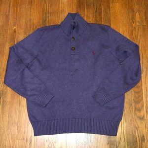 POLO RALPH LAUREN 3 button mock neck sweater M